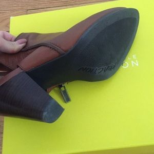 Kenneth Cole Reaction Shoes - Leather open heel ankle strap booties